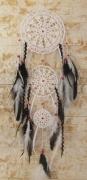 artisanat dart coton plumes perles main : yang
