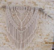 artisanat dart autres coton bois flotte beige fait main : plume