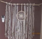 artisanat dart bois flotte perles dentelle plumes : plume 2