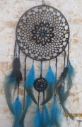 artisanat dart coton perles plumes : rêve bleu