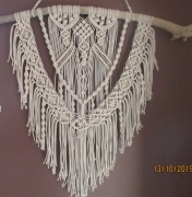 artisanat dart bois flotte fait main coton perles : camille