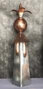 sculpture fleurs lys cuivre laurent bonnet zinc : lys