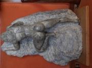 sculpture nus nu varappeuse marbre : nu varappeuse Shaana