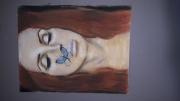 tableau personnages deco lana del rey papillon toile : Lana