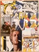 tableau personnages collage roy lichtenstein pop art portrait : Around Roy