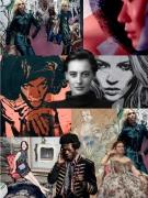 tableau personnages collage numerique mode portrait : Around Jimmy