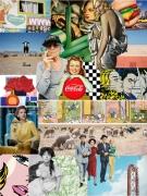 art numerique personnages collage numerique art deco portrait : Around Grandma