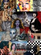 art numerique personnages collage numerique mode sciencefiction : Around E.T