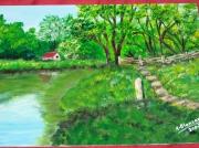 tableau paysages marais verdure : Le Marais poitevin