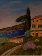 tableau paysages provence mer maison : St Raphael