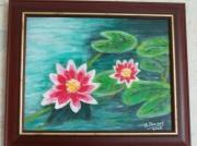 tableau fleurs fleurs eau zen : Nénuphars