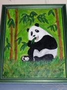 tableau animaux panda bambou : Panda