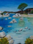 tableau paysages provence mer rochers : Calanque de l'Esterel