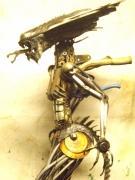sculpture autres alien en metal alien metal de recup oeuvre unique alien : Alien