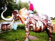 sculpture animaux elephant en metal elephant d afri metal de recuperatio oeuvre unique : Éléphant d'Afrique