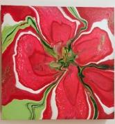 tableau abstrait fleur abstrait pouring : Fleur abstrait