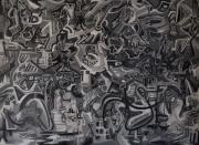 tableau abstrait nuance de gris narrative histoires all over : Greys03