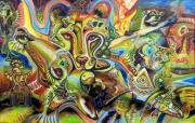 tableau animaux animaux pareidolie psychedelique chamanique : Psyképrédation