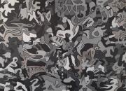 tableau personnages puzzle mystere nuances de gris marionnettes : Grey01