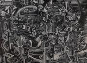 tableau personnages nuances de gris narrative puzzle histoires : Grey07