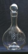 artisanat dart autres verre gravure vignes carafe : MYLENE