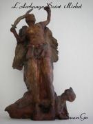 sculpture personnages ange eglise saint : Archange Saint Michel