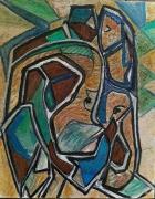 tableau nus : Couple dans le vent 2