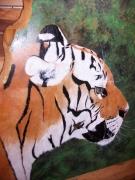 artisanat dart animaux tigre peint peinture animaliere felins peints artisanat peinture : Beau Tigre!