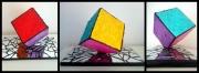 sculpture architecture cube mosaique miroir contemporain : CUBIK (2016)