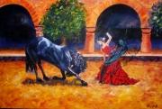 tableau scene de genre occitanie montpellier place comedie : Inspiration andalouse