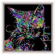 tableau animaux moderne chat noir : Chat noir