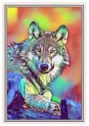 tableau contemporain moderne chien : Animal 1