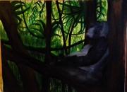 tableau animaux jungle gorille : Humanité