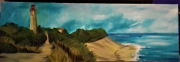 tableau marine phare ocean : Entre ciel et mer