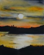 tableau paysages coucher de soleil : Alanguissement