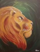 tableau animaux lion afrique savane : King