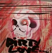 tableau abstrait amour abstrait crane : Dirty Love