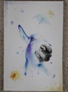 tableau animaux ane humoristique pastel : Jane