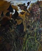 painting fleurs : percée dans les herbes