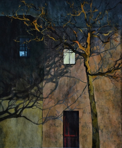 TABLEAU PEINTURE Villes Peinture a l'huile  - rue de l'espoir