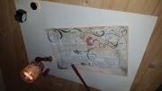 dessin fleurs fleur parchemin marron ancien : Antique parchemin