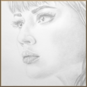 dessin personnages femme portrait dessin gris : Jeune femme