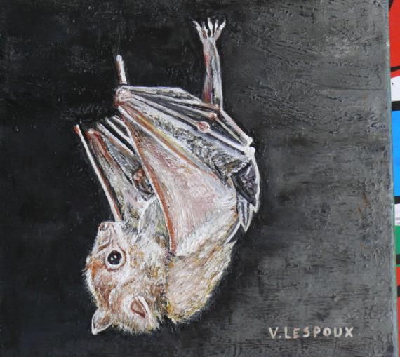 TABLEAU PEINTURE animaux nocturnes Animaux Peinture a l'huile  - Chauve-souris