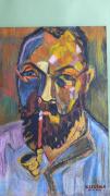 dessin personnages fauvisme : portrait de Matisse