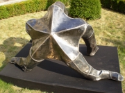 sculpture animaux etoile de mer acier message ecolo galatee : galatée
