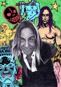 dessin personnages iggy pop dessin portrait : Iggy Pop