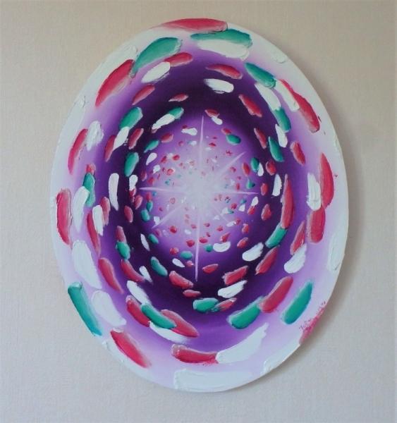 TABLEAU PEINTURE lumière étoile réincarnation âme Abstrait Peinture a l'huile  - La montée des âmes