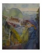 tableau villes fribourg van gogh lumiere aquarelle : eau lumière