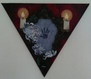 tableau autres fantome chrysantheme miroir bougies : Pleurs d'enfants