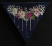 tableau fleurs belles de nuit dentelle fleurs perles : Belles de nuits